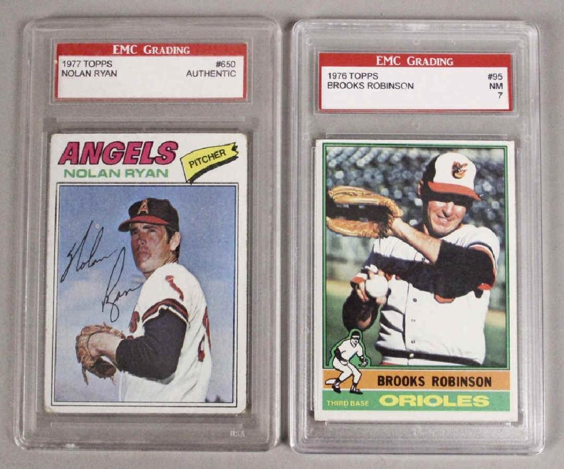 Nolan Ryan Brooks Robinson Graded Baseball Cards