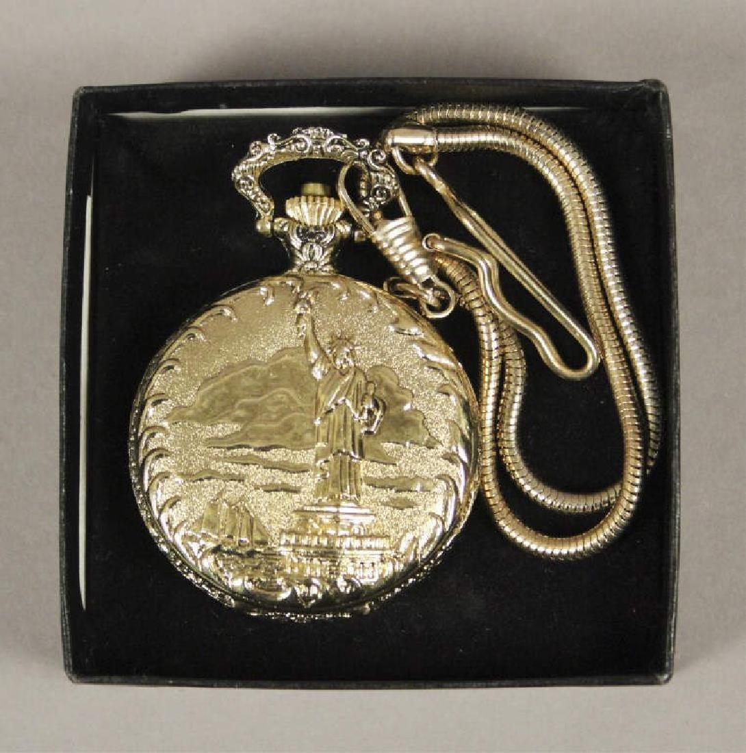 Statue of Liberty Commemorative Pocket Watch