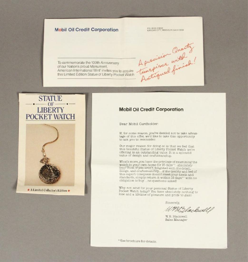 Statue of Liberty Commemorative Pocket Watch - 6