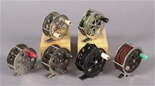 6 Unmarked Fly Fishing Reels