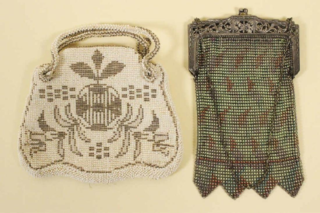 Whiting Vintage Mesh Purse & Beaded Purse