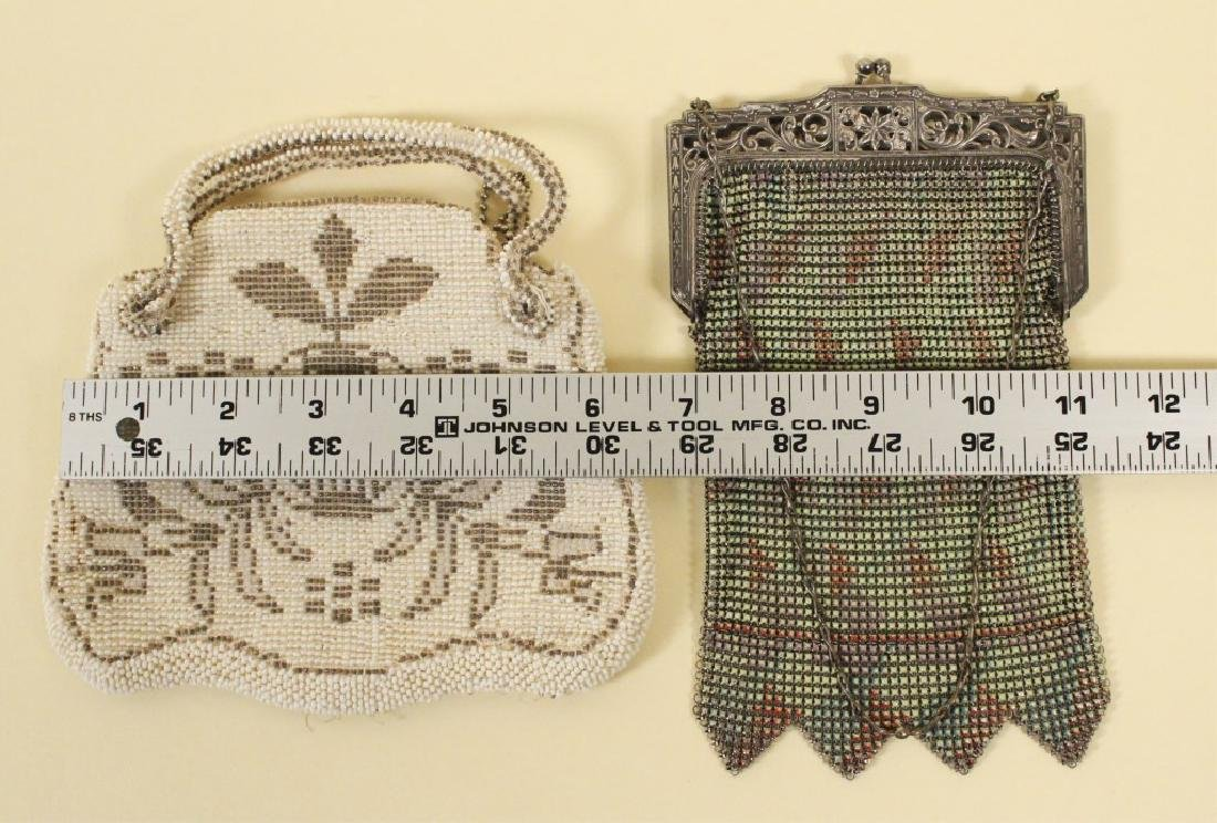 Whiting Vintage Mesh Purse & Beaded Purse - 2