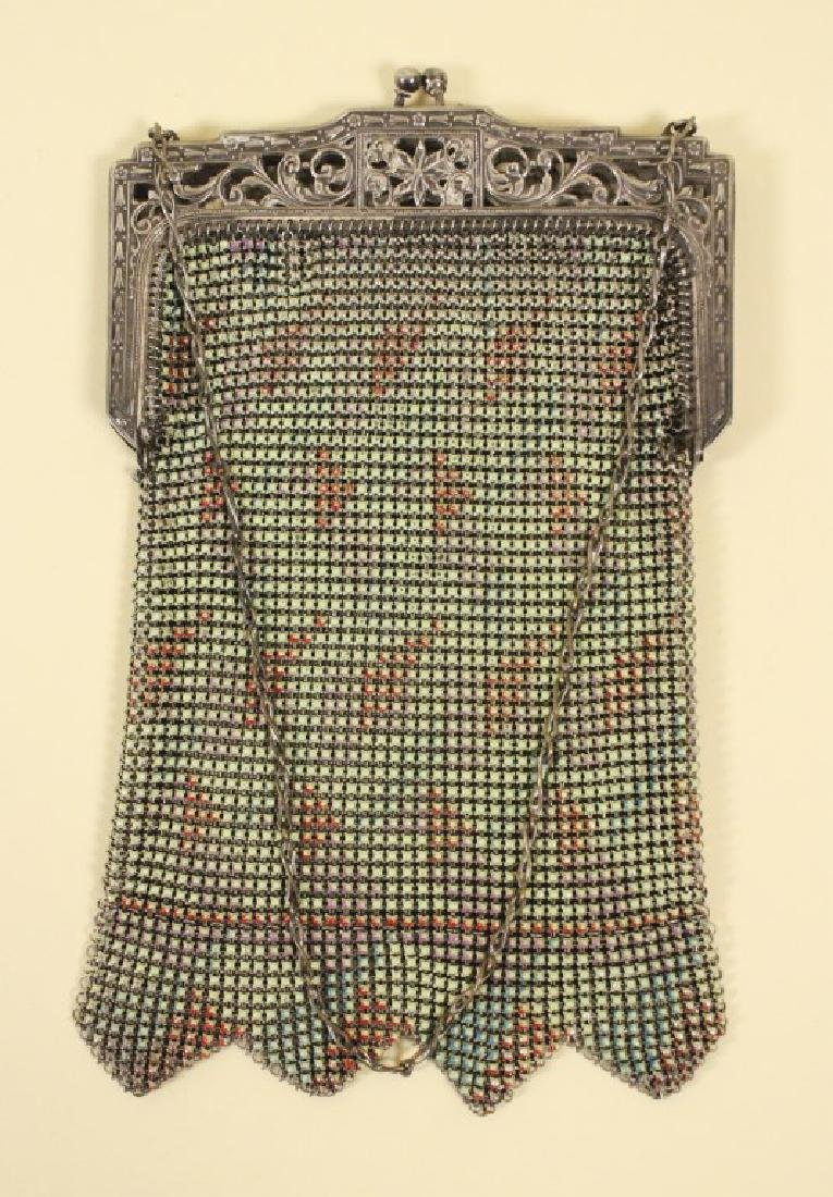 Whiting Vintage Mesh Purse & Beaded Purse - 3