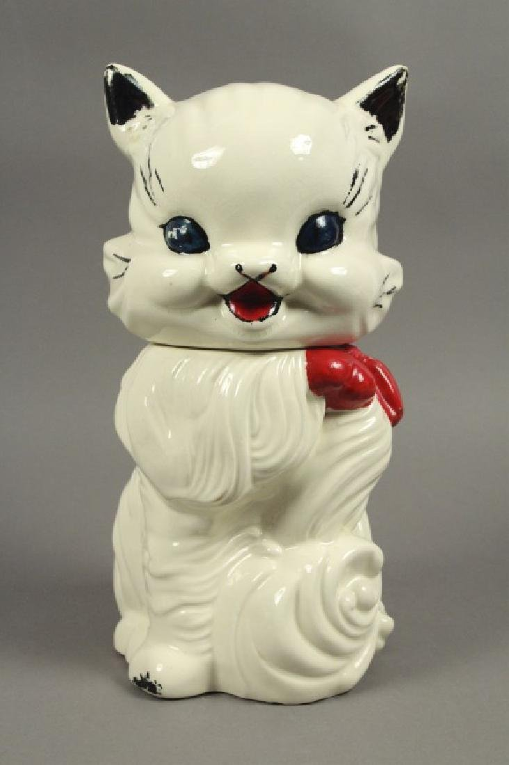 """American Bisque """"Fluffy the Cat"""" 1950's Cookie Jar"""