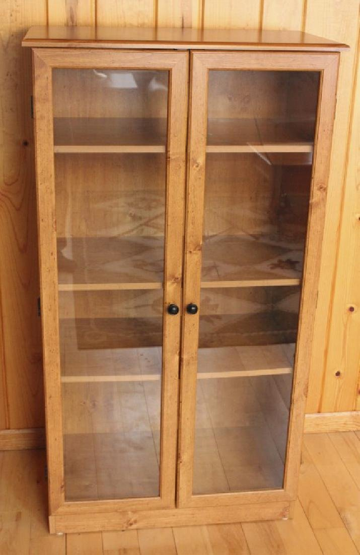 "53 1/2"" Tall Wood Display Cabinet Case"