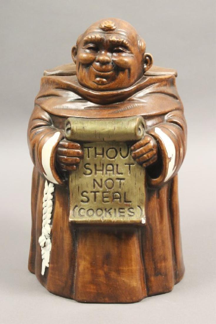 'Thou Shalt Not Steal' Friar Cookie Jar