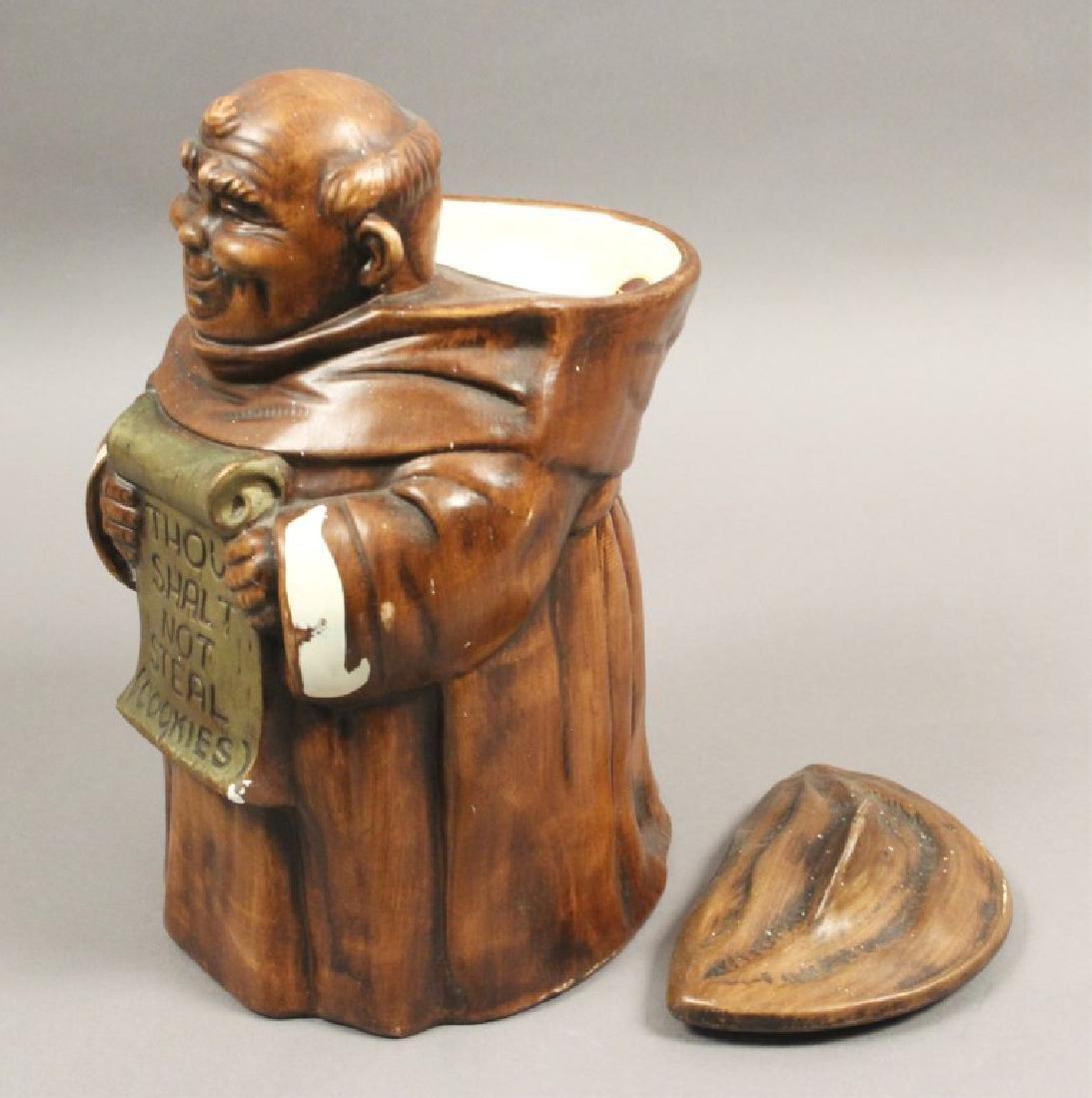 'Thou Shalt Not Steal' Friar Cookie Jar - 2