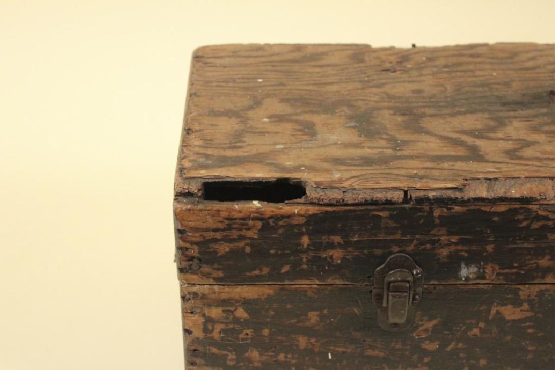 Cool Old Vintage Wood Tool Box - 2