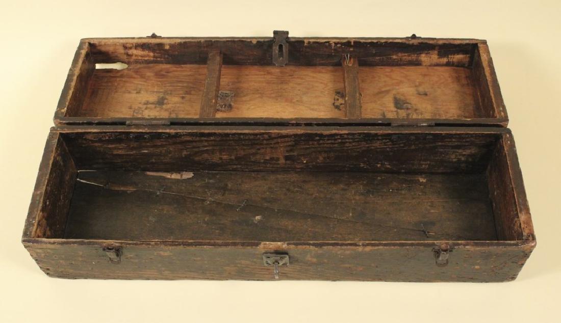 Cool Old Vintage Wood Tool Box - 4