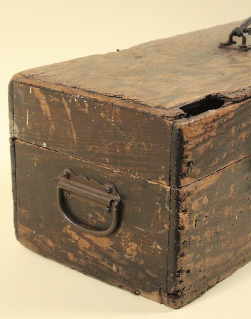 Cool Old Vintage Wood Tool Box - 5