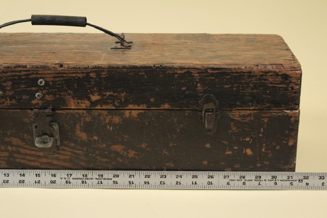 Cool Old Vintage Wood Tool Box - 6
