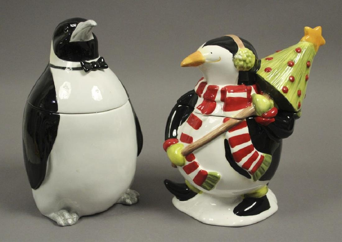 2 Collectible Penguin Cookie Jars