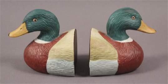 Mallard Wood Duck Bookends