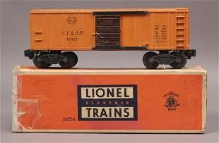 Lionel 6454 Postwar AT S F Box Car with Box