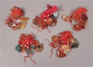 49 Chinese Carved Stone Butterfly Necklaces