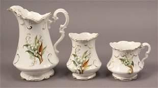 Sterling Porcelain Co Pitcher Set