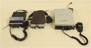 3 Vintage CB Radios Sears Sharp Raytheon