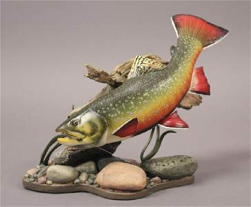 1999 'Mountain Brookie' Wildlife Trout Figurine