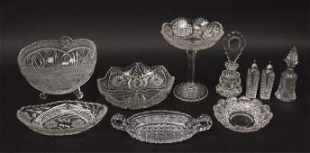 Vintage Crystal Dishes  Plates  Bowls  Bell