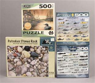 4 Assorted Nature Scene Puzzles New