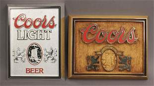 2 Adolph Coors Beer Collector Signs