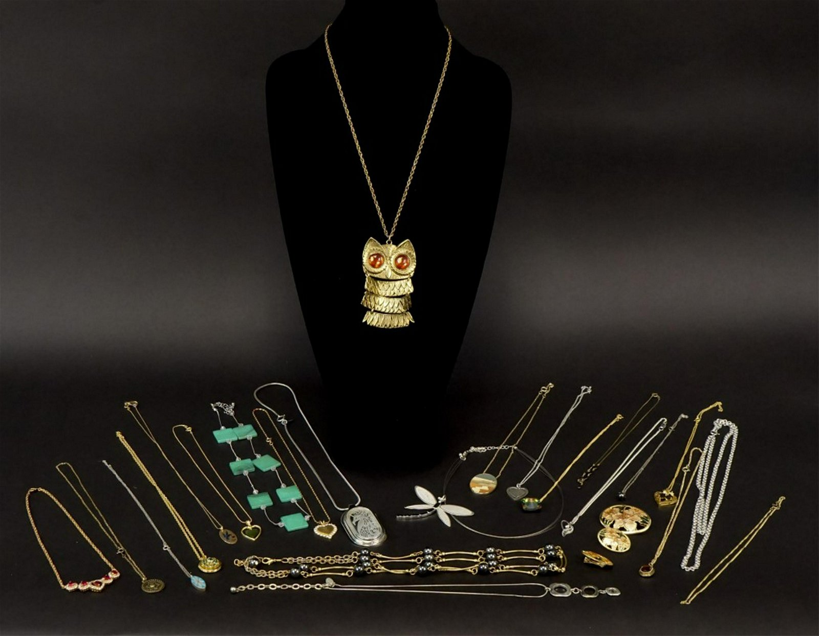 Estate Jewelry - 23 Assorted Necklaces & 3 Pins