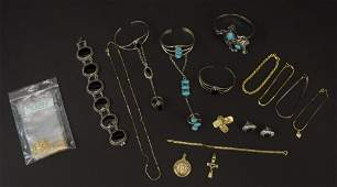 Large Assorted Estate Jewelry Sterling  Gold