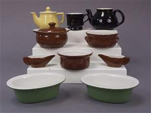 12 Assorted Hall Dishes - Cups - Crocks - Teapot