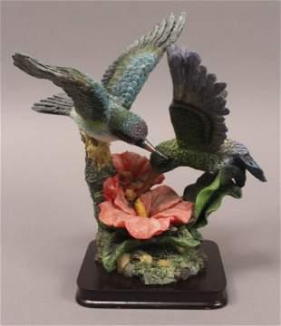 Large Hummingbirds Figurine