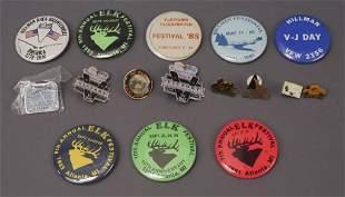 16 Vintage Hillman Atlanta Alpena MI Pins