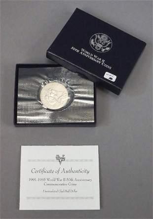 World War II 50th Anniversary Commemorative Coin