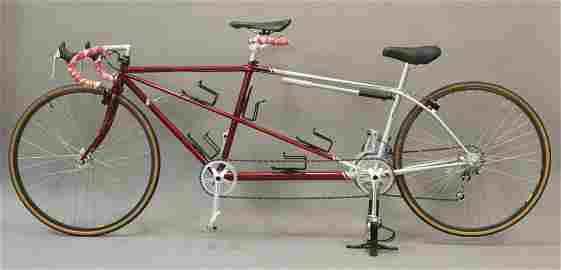 Red & Silver Reynolds 531 Tandem Bike