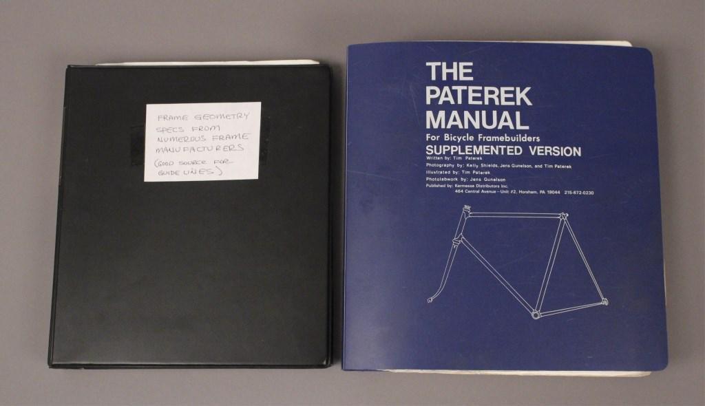 Paterek Manual & Frame Geometry Specs Books