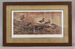 "Scot Storm ""Resting Place"" Wood Ducks Framed Print"