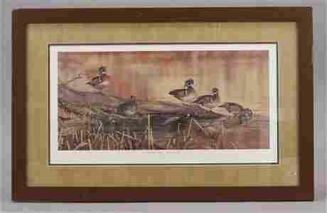 "Scot Storm ""Resting Place"" Wood Ducks Framed Print"