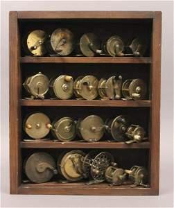 Reel Display Case with 20 Various Reels