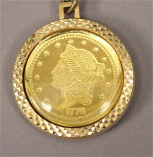 United Steel Workers Coin Medallion Pendant