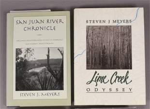 2 Steven J Meyers Fishing Books One Signed