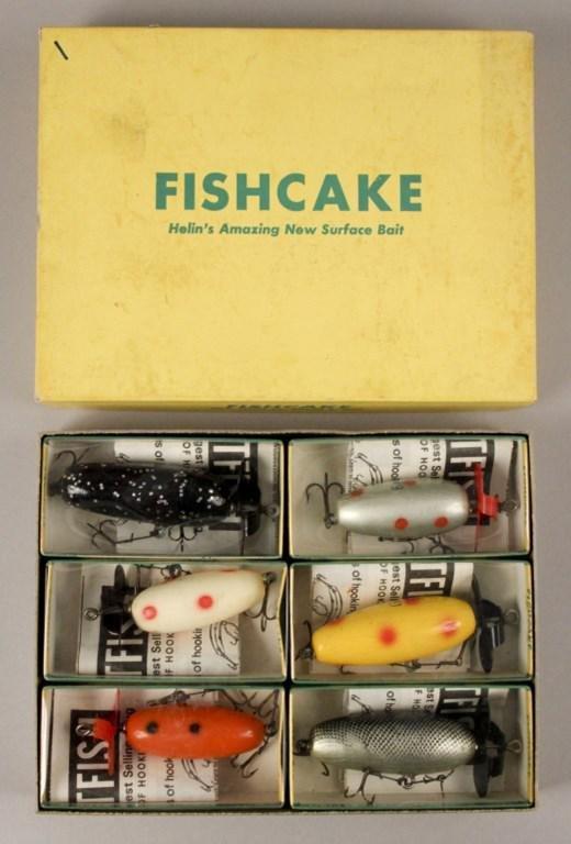 6 Helin's Fishcake Fishing Lures in Dealer Box