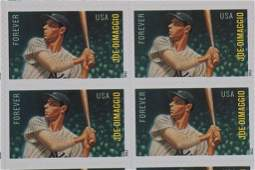 Larry Doby & Joe Dimaggio Baseball Stamp Sheets
