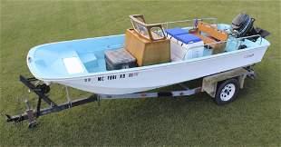 "1974 Boston Whaler 16' 7"" Boat w/ Motor & Trailer"