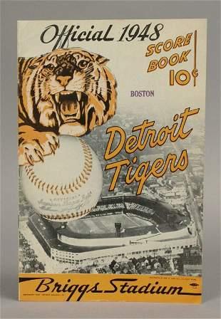 1948 Detroit Tigers Score Book - Briggs Stadium