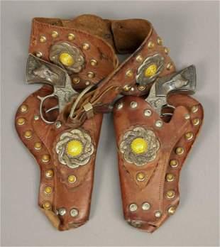 Vintage Wild Bill Hickok Toy Guns & Belt Holster
