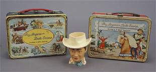 2 Roy Rogers & Dale Evans Metal Lunch Boxes