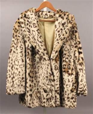Blair Faux Fur Leopard Jacket - Size XL