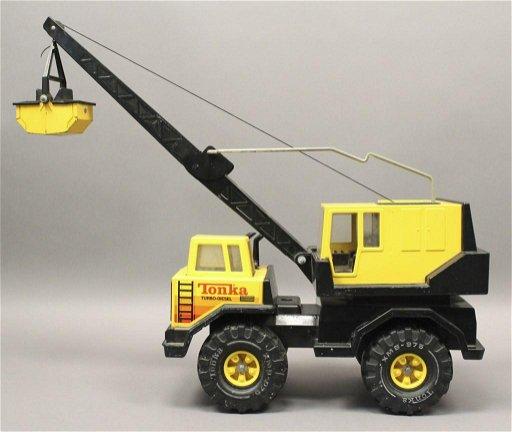 Tonka Toy Trucks >> Tonka Turbo Diesel Bucket Crain Shovel Toy Truck