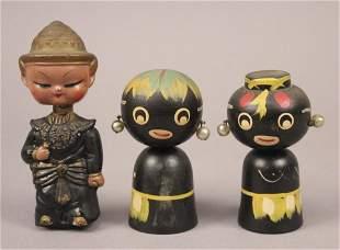 Vintage Kokeshi Bobble Head Dolls