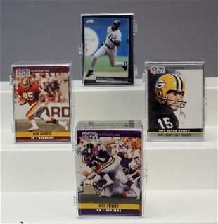 Assortment of Football Baseball Cards Packers