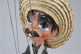 Mexican Marionette with Guns & Sombraro