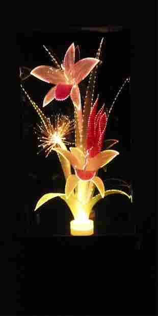 Fiber Optic Floral Lamp - Color Changing